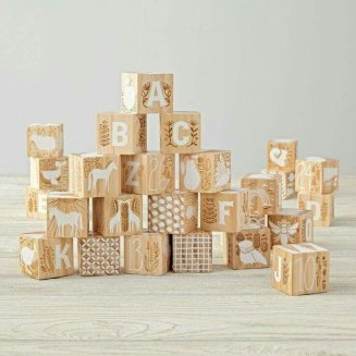 Wooden etched blocks