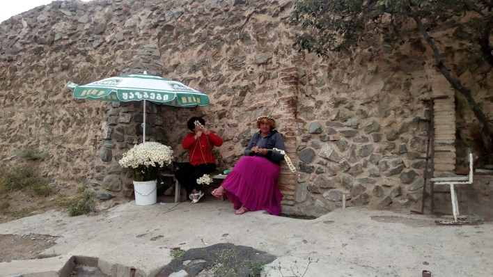 Locals selling flowers at the destination