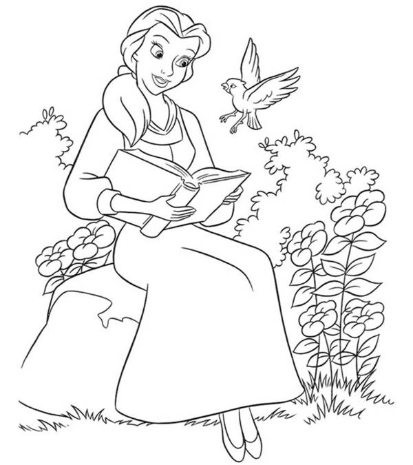 beauty and the beast coloring page # 0
