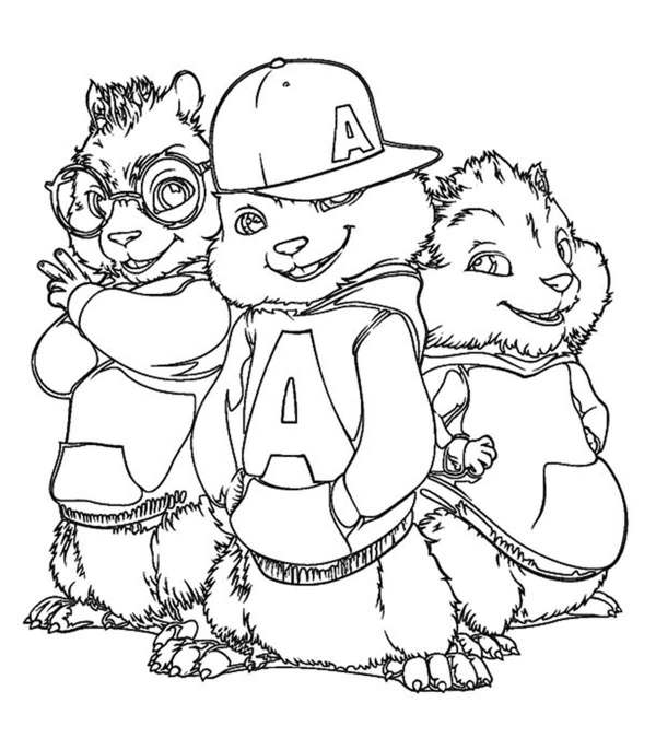 chipmunk coloring pages # 0