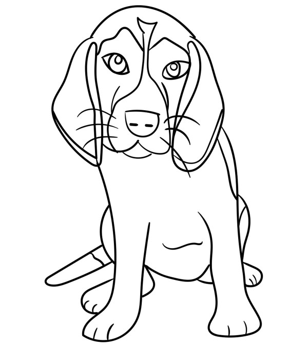 coloring pages dog # 0