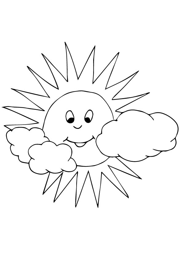 Sun & Clouds Coloring Page Lessons, Worksheets and Activities