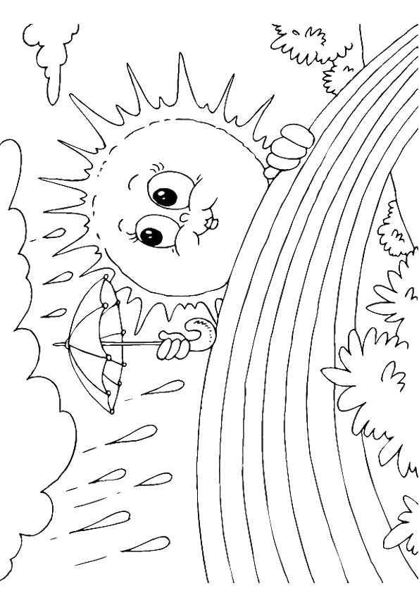 Sun & Rainbow Coloring Page Lessons, Worksheets and Activities