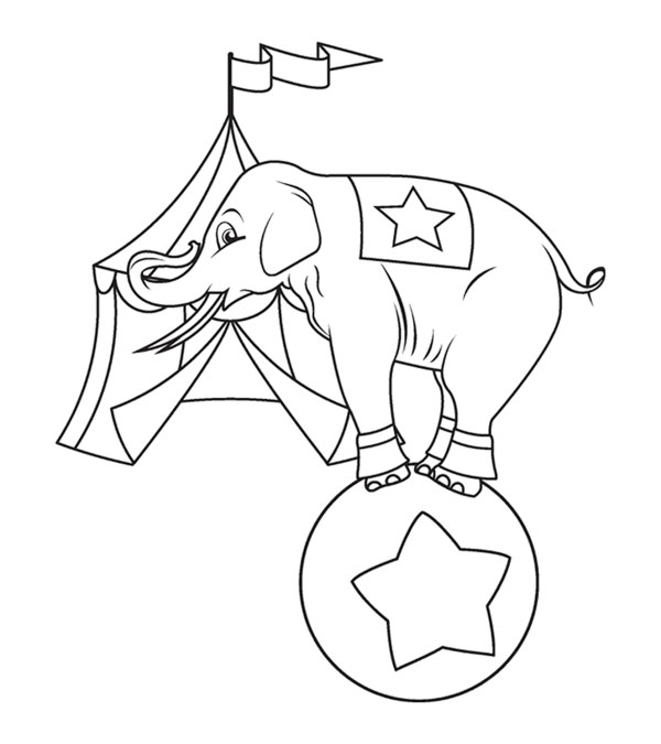 coloring pages of elephants # 17