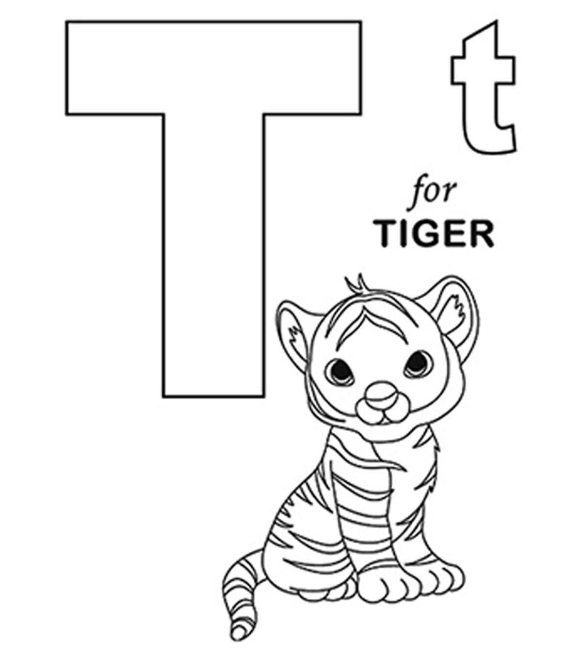 Letter T Coloring Sheet