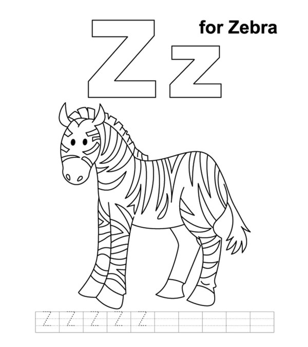 letter z coloring page # 0