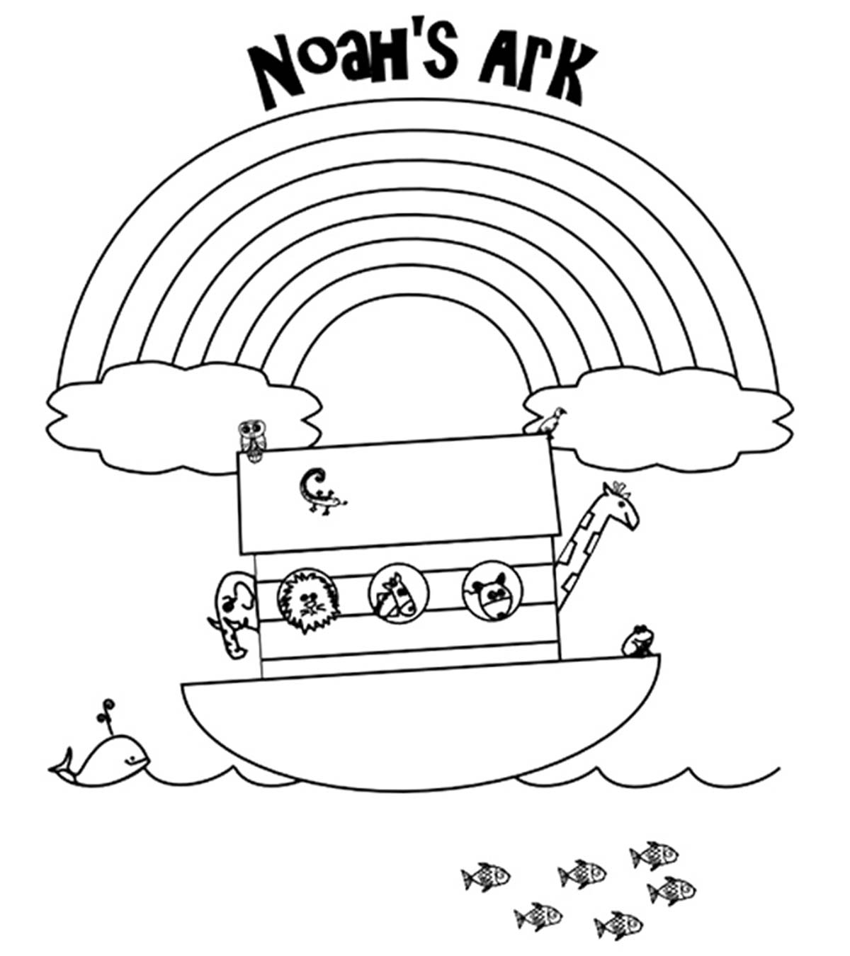 Coloring Pages For Noah And The Ark