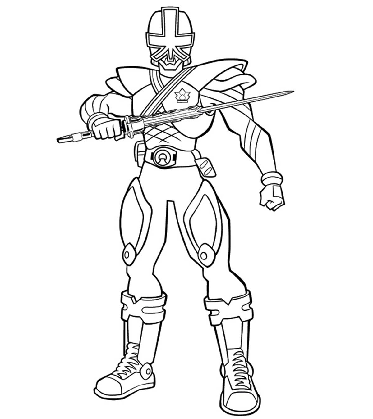 Blue Power Rangers Dino Charge Coloring Pages