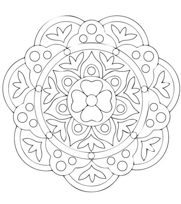 rangoli coloring pages # 0