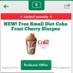 FREE Small Diet Coke Frost Cherry Slurpee at 7-Eleven