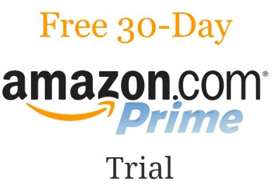 free 30-day amazon prime trial