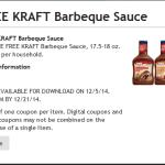 Fred Meyer Freebie Friday: Kraft BBQ Sauce