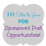 10 Sites to Join For Sponsored Post Opportunities