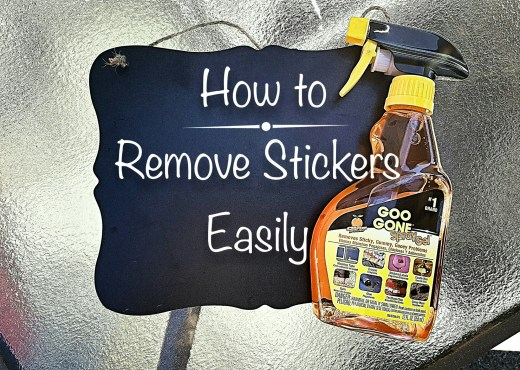 How to remove stickers