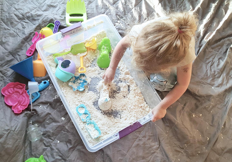 Safe DIY Moon Dough for a Toddler Fun Activity