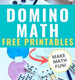 Domino Fun Math Worksheets   Mom Life Made Easy [ 1550 x 700 Pixel ]