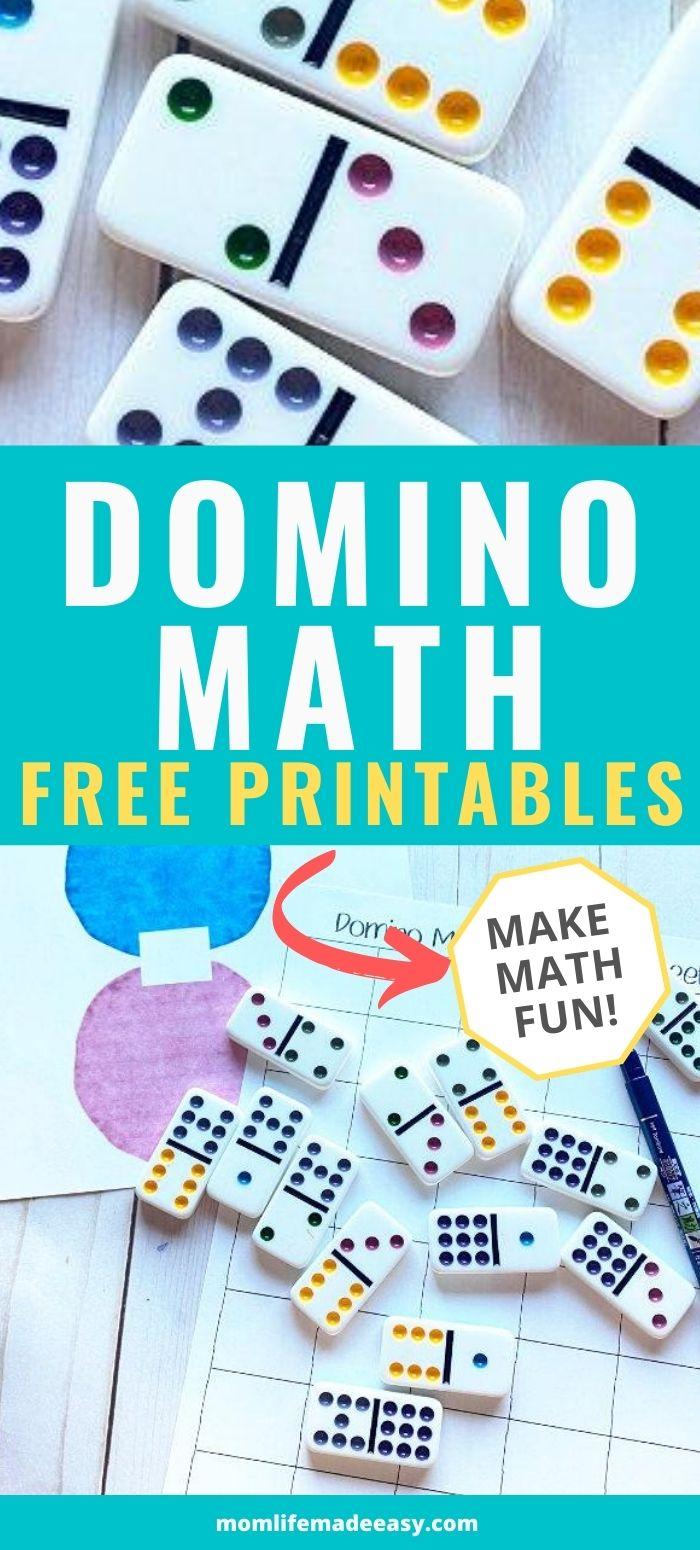 medium resolution of Domino Fun Math Worksheets   Mom Life Made Easy