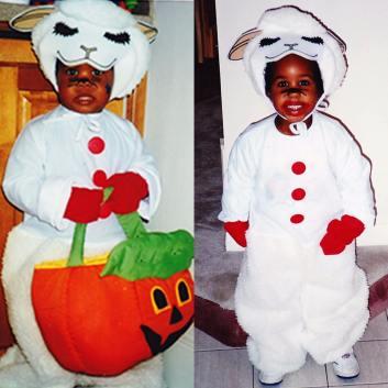 Halloween lamb chops