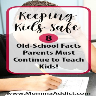 Dr. Momma discusses kids' personal information and highly recommends parents require this information to be memorized instead relying on electronic devices