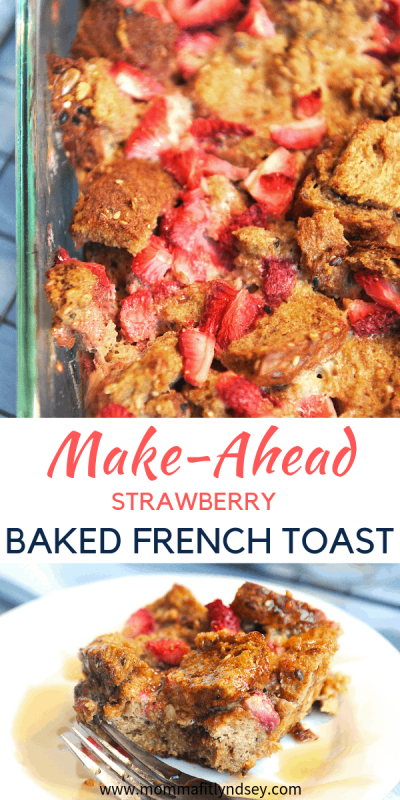 Looking for a healthy and easy breakfast that kids will eat? Healthy lifestyle blogger Momma Fit Lyndsey shares her favorite make ahead french toast casserole recipe