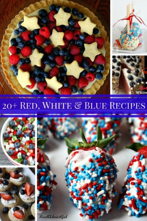 20+ Red, White and Blue Recipes