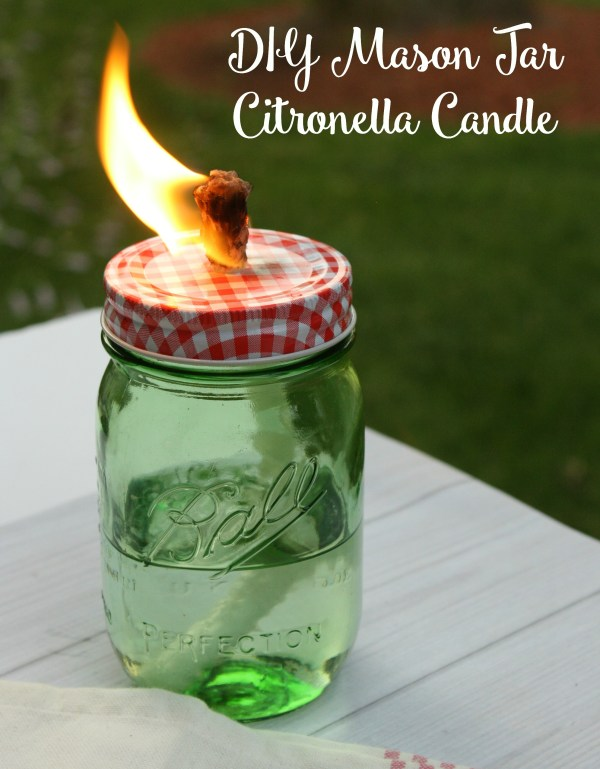 DIY Mason Jar Citronella Candle