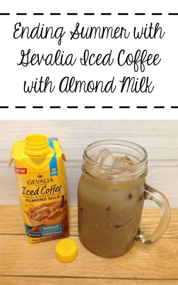 Ending Summer with Gevalia Iced Coffee with Almond Milk