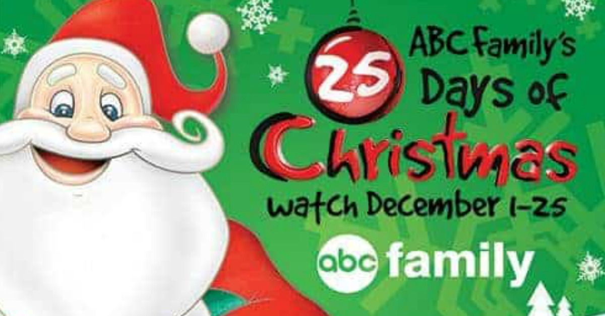 Freeform Christmas Schedule.Abc Family Freeform 25 Days Of Christmas Schedule Momma Lew