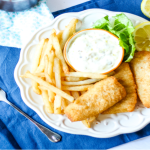 Homemade Beer Battered Fish and Chips
