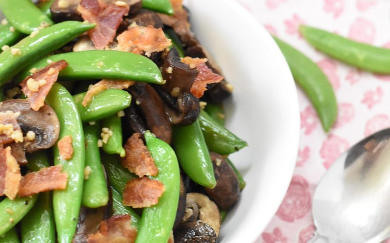 Roasted Snap Peas & Mushrooms