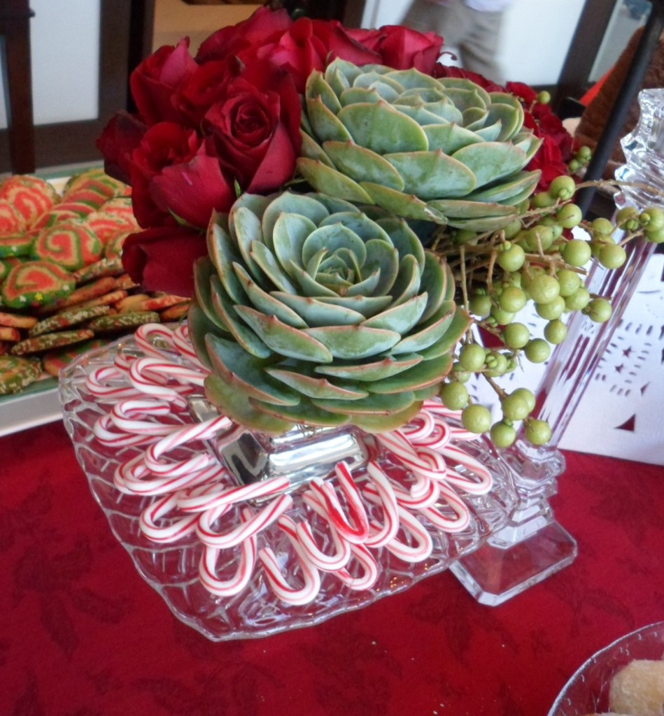 I love how Aga always brings something new to my table. I wanted to incorporate candy canes into the arrangements since I found them in Nuts About Candy in ATC!