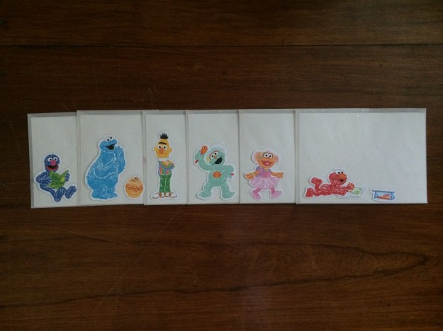 I also used the scrapbooking embellishments on the envelopes of the invitations.