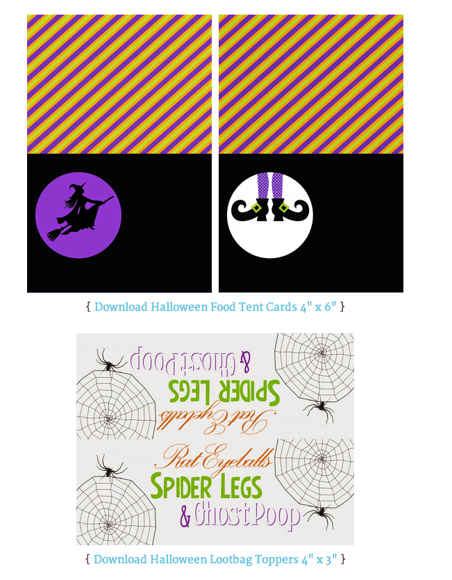 Screen shot of Tina's FREE Printables available on her blog. Click the photo to be directed to Tina's post.