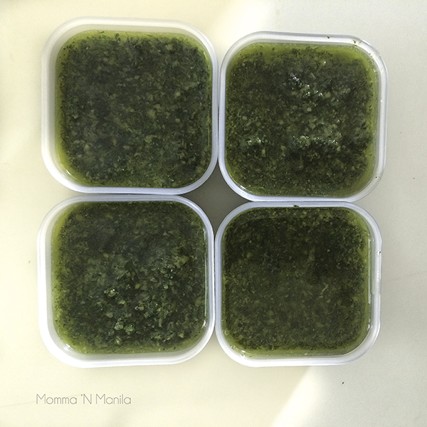 Creating a menu with easy but delicious dishes keeps your stress factor low. I make this pesto often and keep little tubs of it in the freezer for even the surprise guests that might come over during the holidays.
