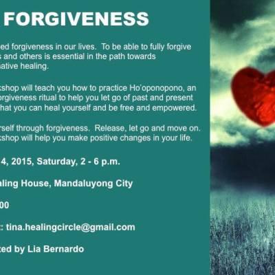 On Forgiveness and the Ho'Oponopono