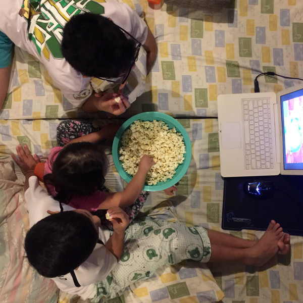 Even the way the kids watch movies has changed.