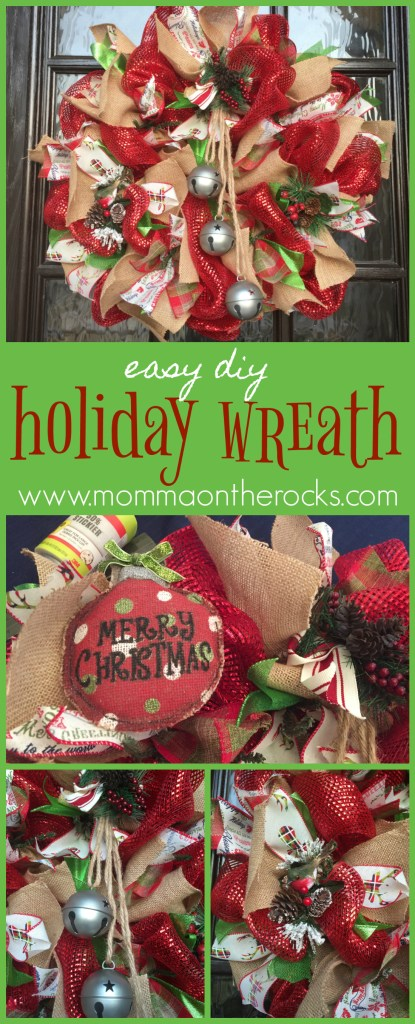 Pinterest image for holiday wreath