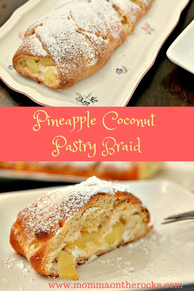 Pineapple Coconut Pastry Braid