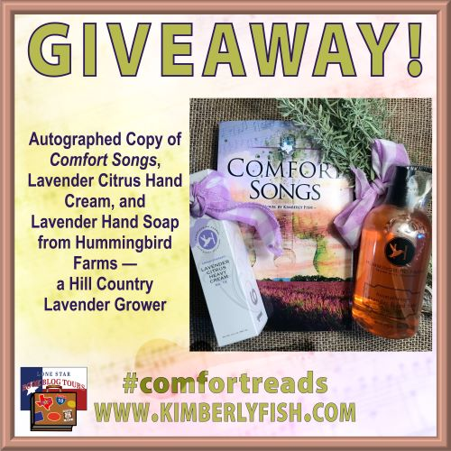 Comfort Songs Giveaway items
