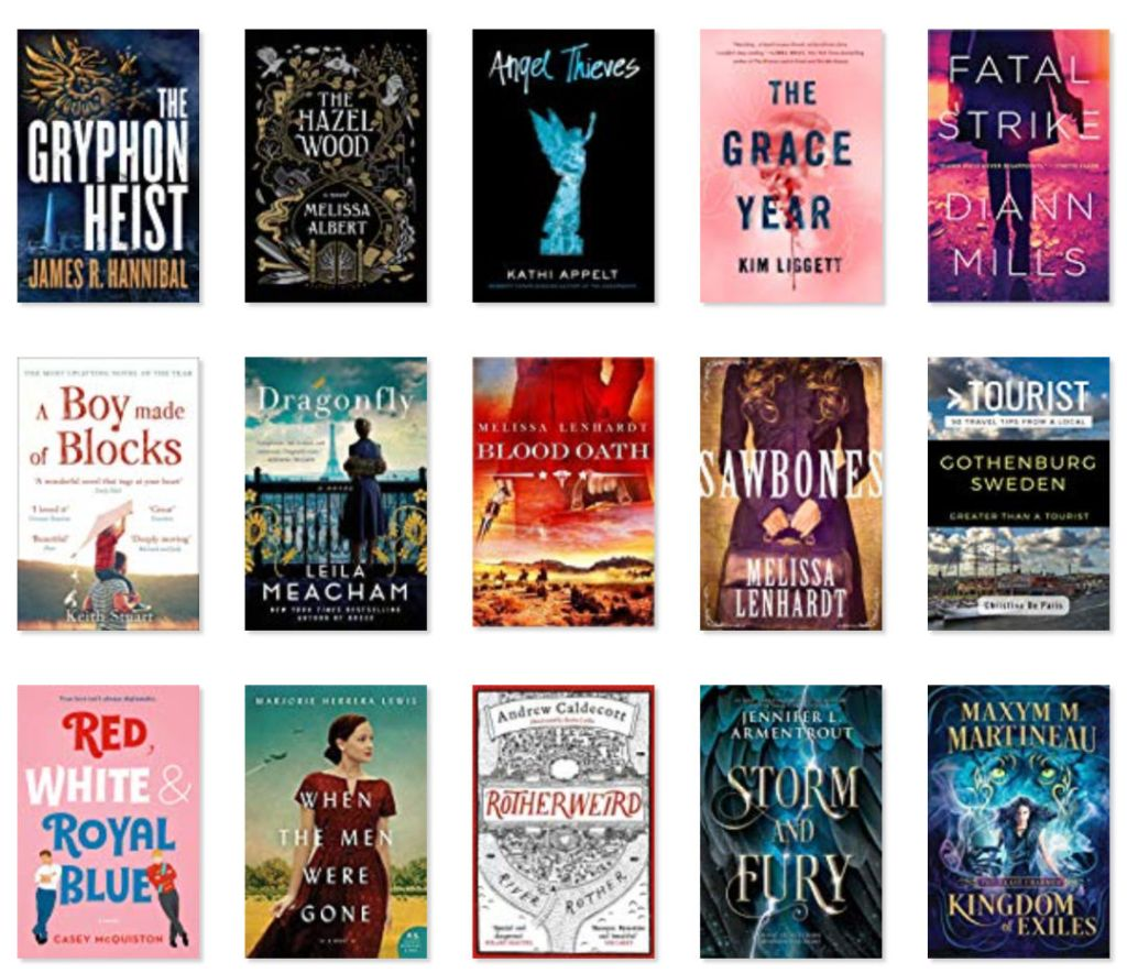 Image of books 16-30 of the 67 books I read in 2019