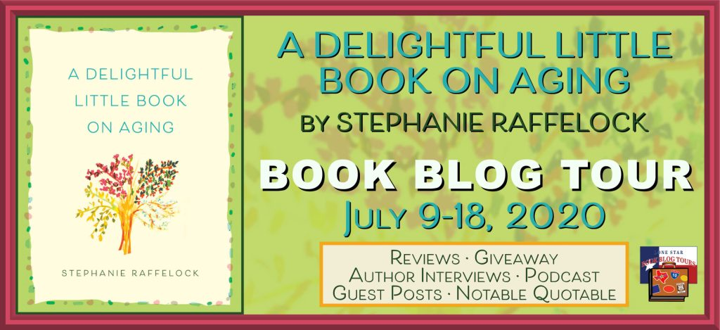 blog tour banner for a delightful little Book on Aging