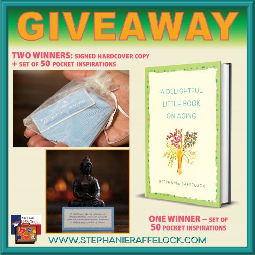 Giveaway image for a delightful little Book on Aging