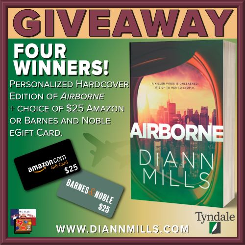 image of prizes for Airborne book giveaway