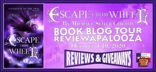 Escape from Wheel blog tour banner
