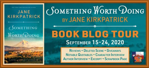 blog tour banner for book tour of Something Worth Doing