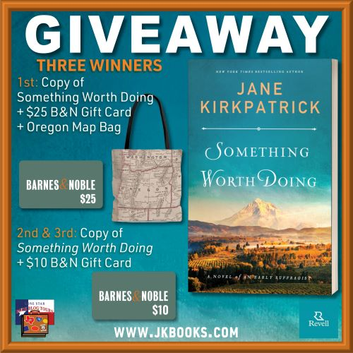 giveaway image for book tour of Something Worth Doing