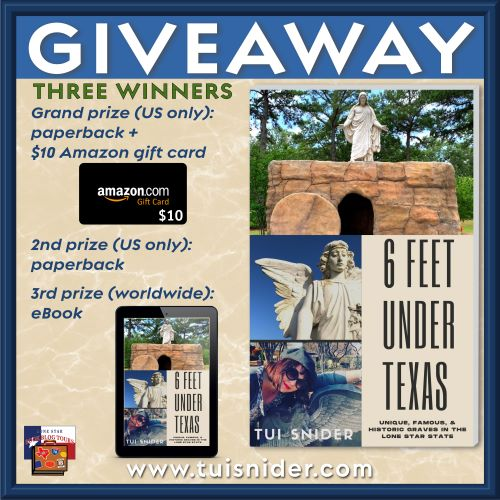 graphic of prizes in Six Feet Under Texas giveaway