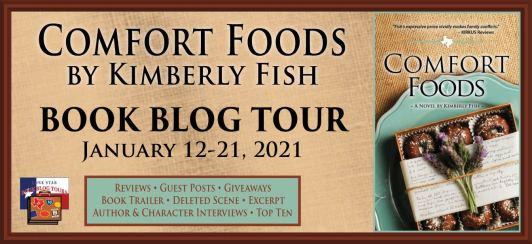 blog tour banner for Comfort Foods book blog tour