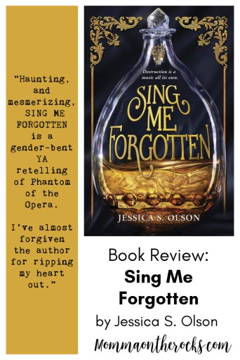 Pinnable image for the book SING ME FORGOTTEN with reviewer quote.