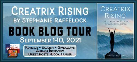 blog tour banner for Creatrix Rising book blog tour